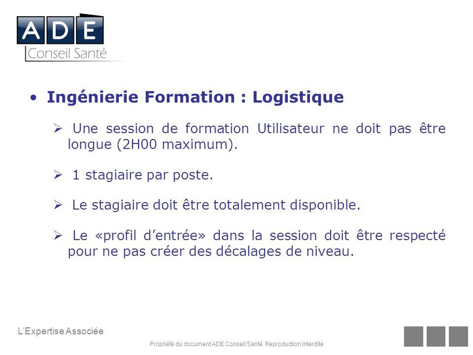 Ingénierie Formation : Logistique