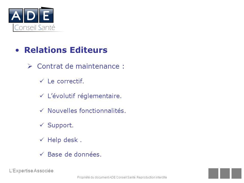 Relations Editeurs Contrat de maintenance : Le correctif.