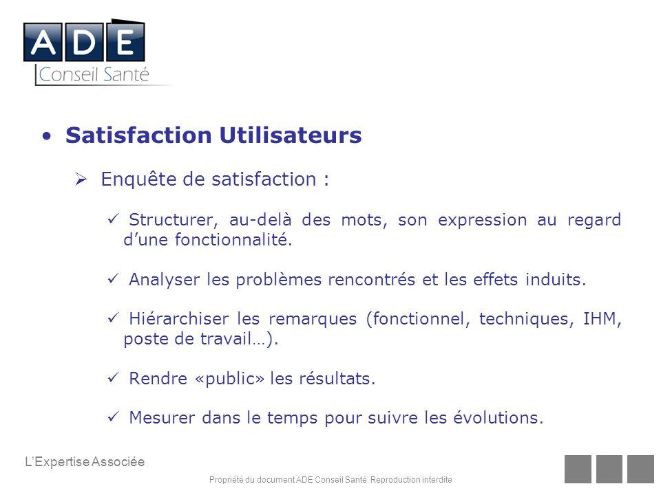 Satisfaction Utilisateurs