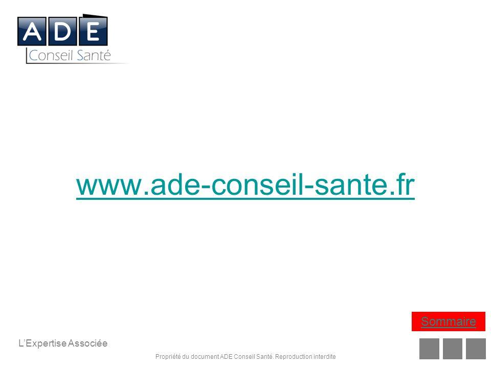 www.ade-conseil-sante.fr Sommaire L'Expertise Associée