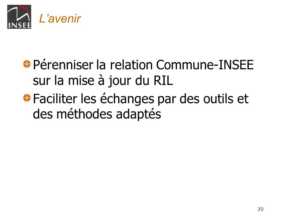 Pérenniser la relation Commune-INSEE sur la mise à jour du RIL