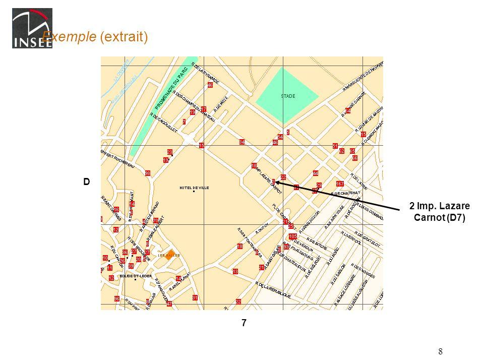 Exemple (extrait) D 2 Imp. Lazare Carnot (D7) 7