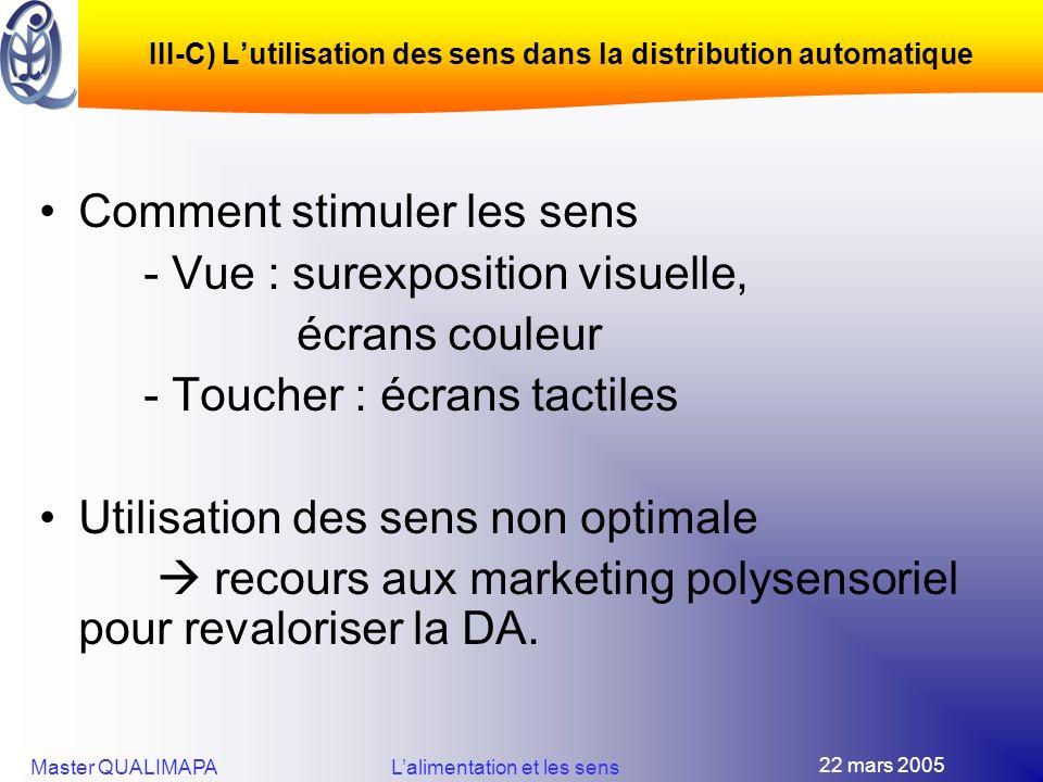 III-C) L'utilisation des sens dans la distribution automatique