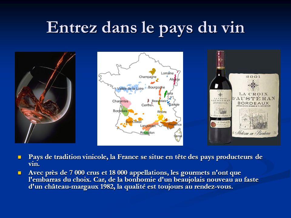 Entrez dans le pays du vin