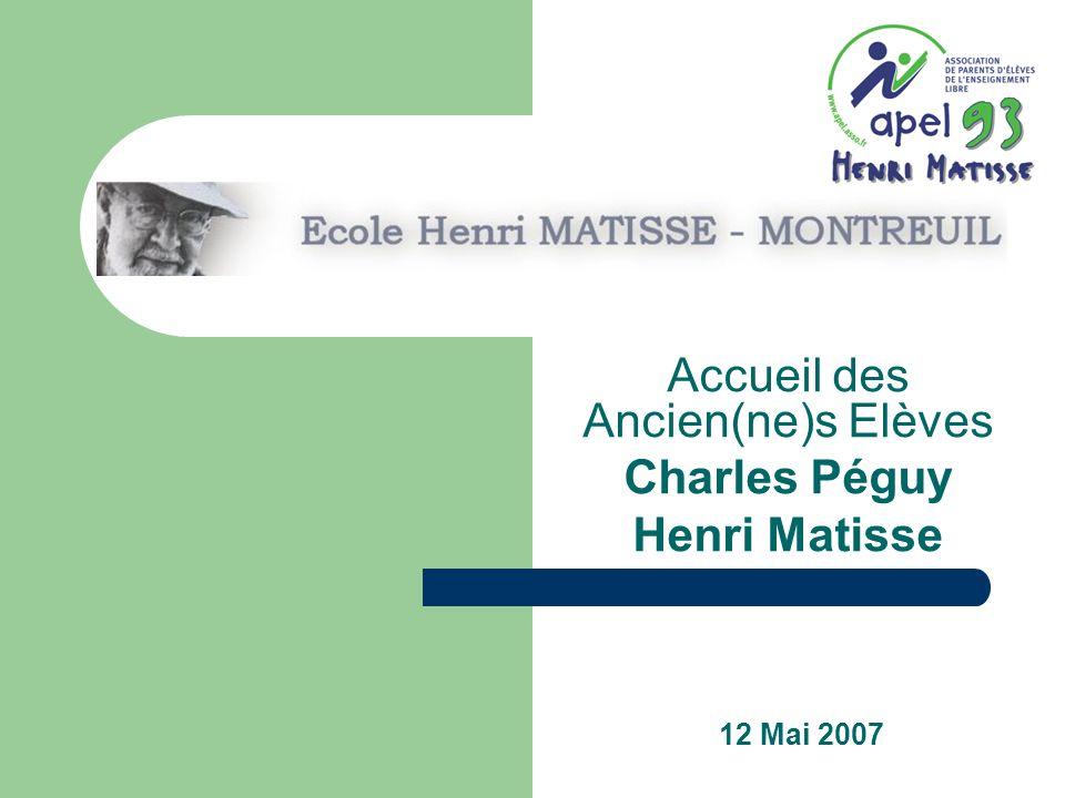Accueil des Ancien(ne)s Elèves Charles Péguy Henri Matisse