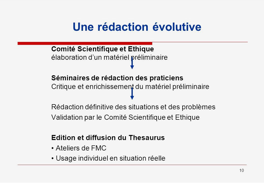 Une rédaction évolutive