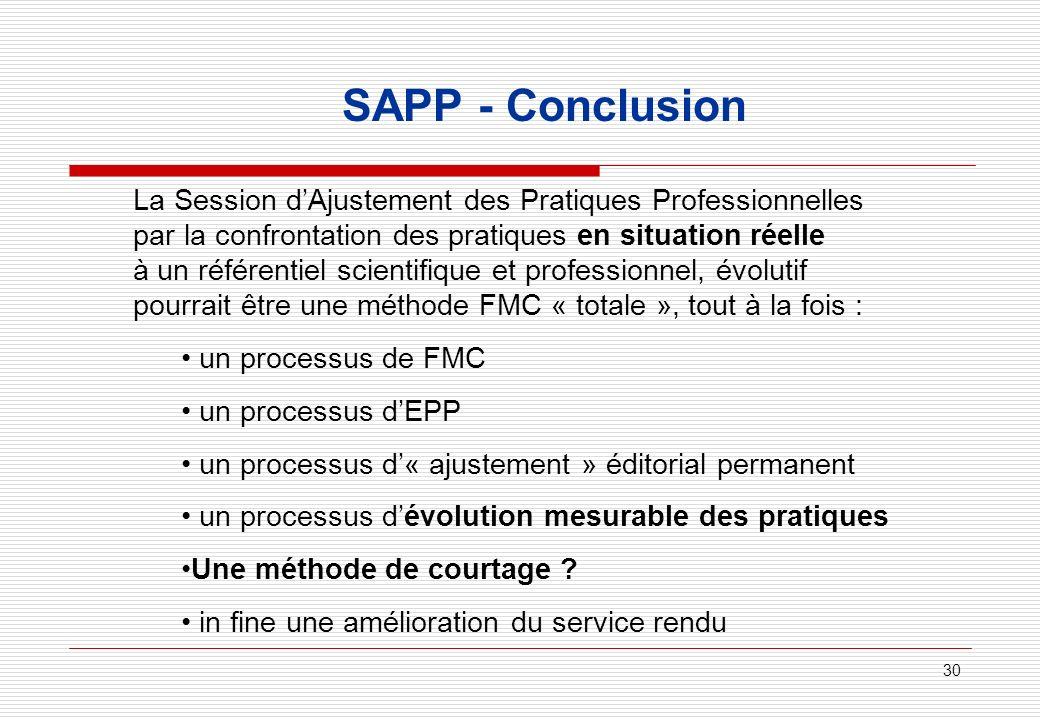 SAPP - Conclusion