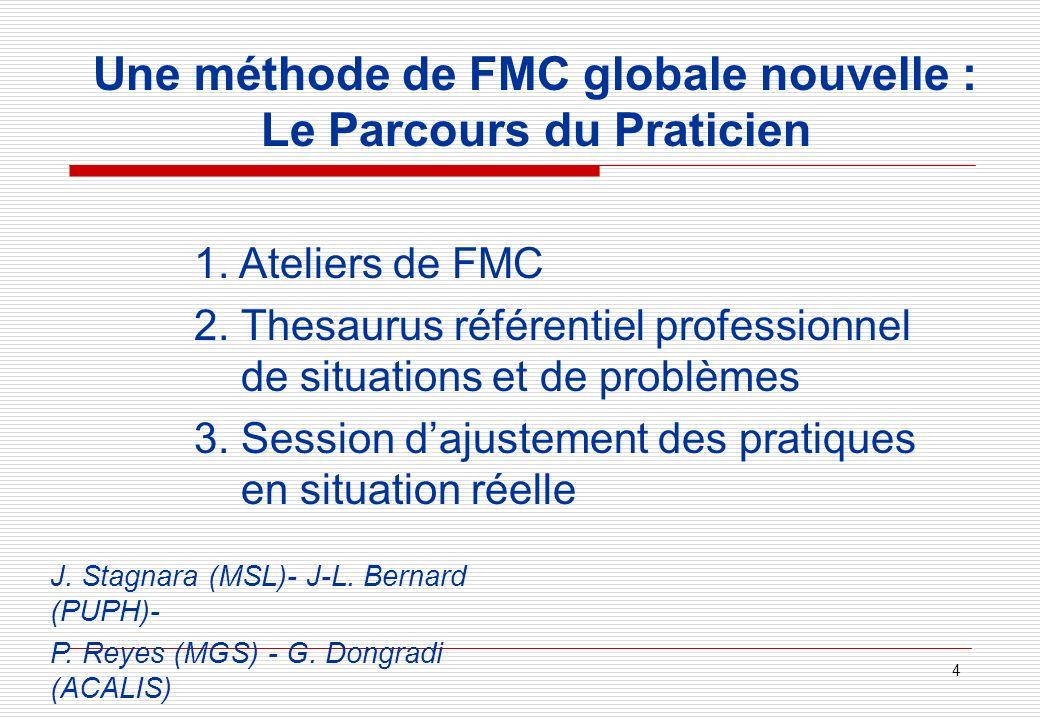 Une méthode de FMC globale nouvelle : Le Parcours du Praticien