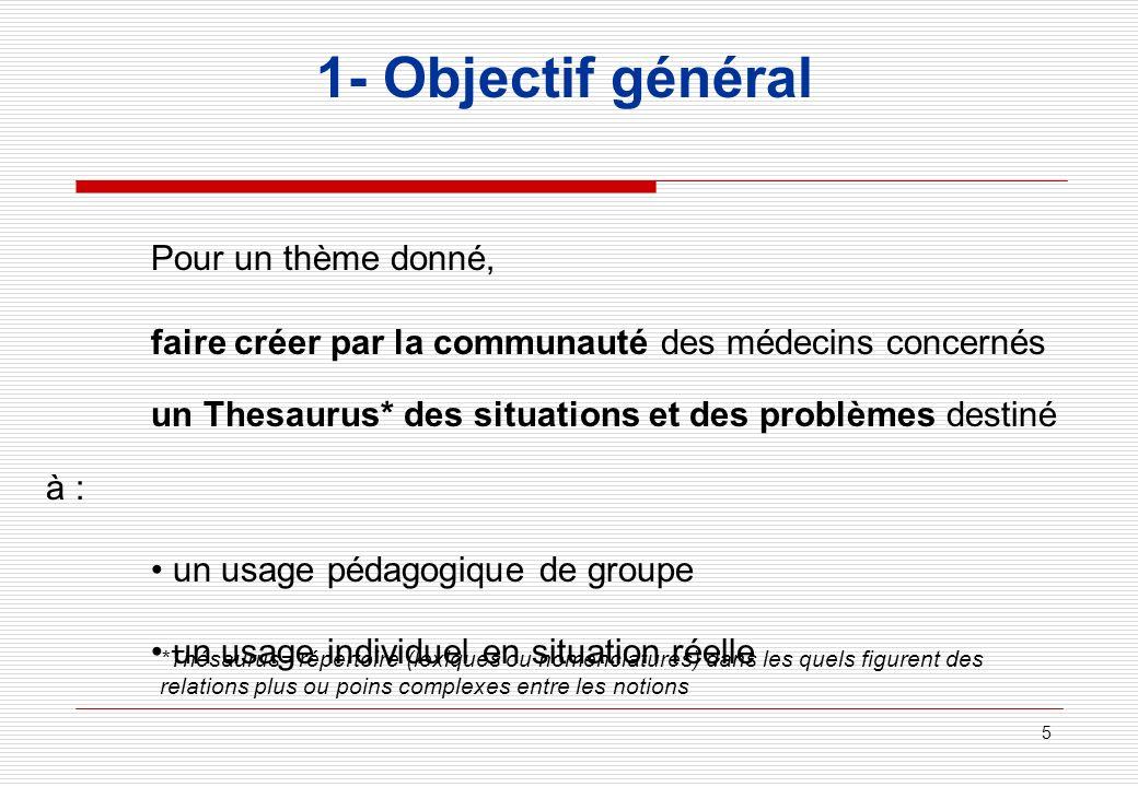 1- Objectif général Pour un thème donné,