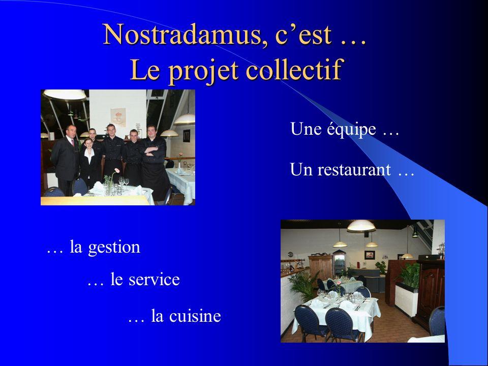 Nostradamus, c'est … Le projet collectif Une équipe … Un restaurant …