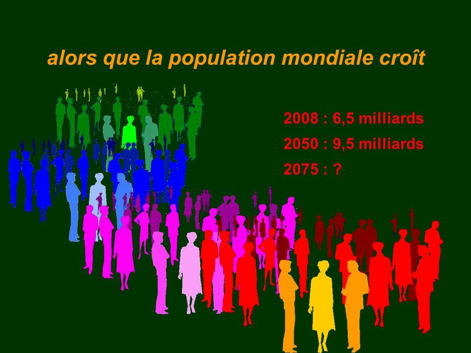 alors que la population mondiale croît