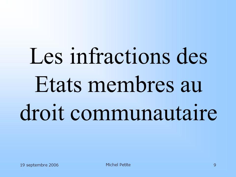 Les infractions des Etats membres au droit communautaire