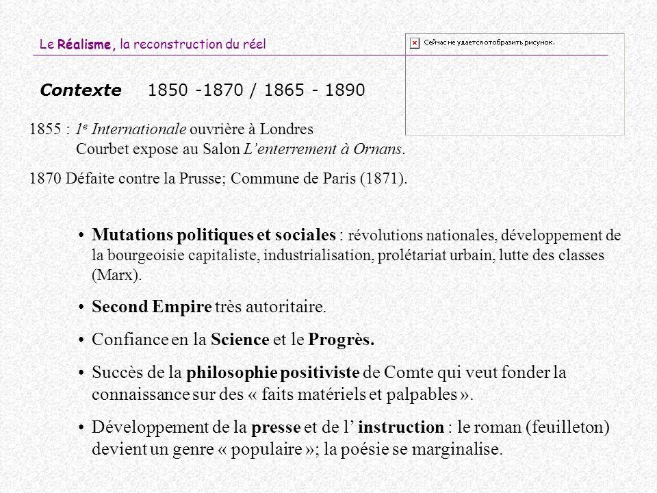 Second Empire très autoritaire. Confiance en la Science et le Progrès.