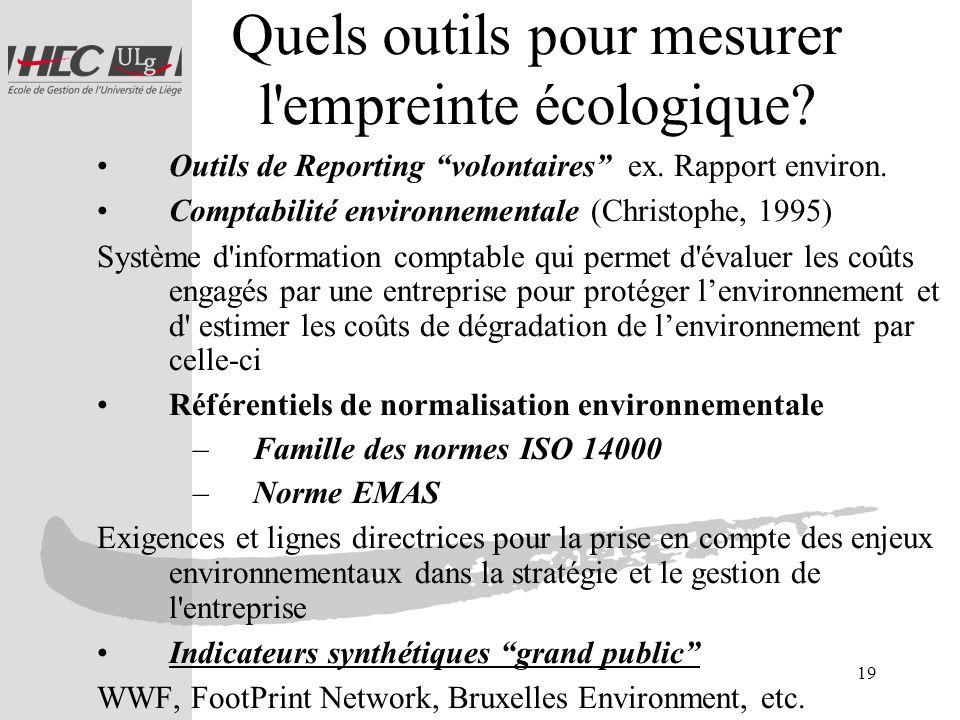 Quels outils pour mesurer l empreinte écologique