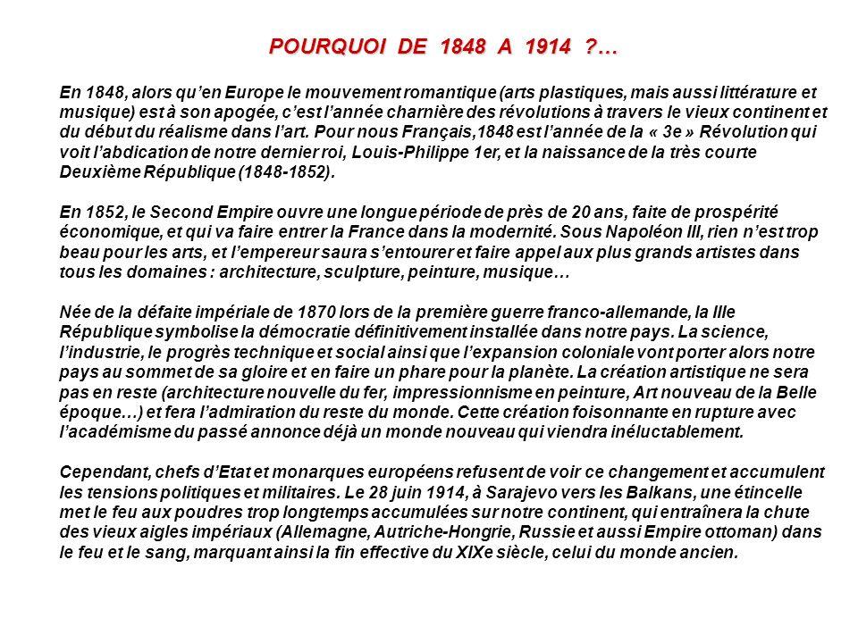 POURQUOI DE 1848 A 1914 …