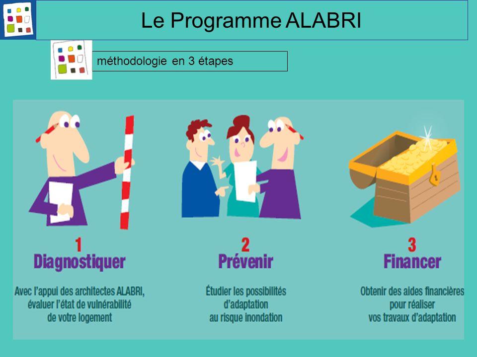 Le Programme ALABRI Équipe animation fait 3 étapes: Réalise diag