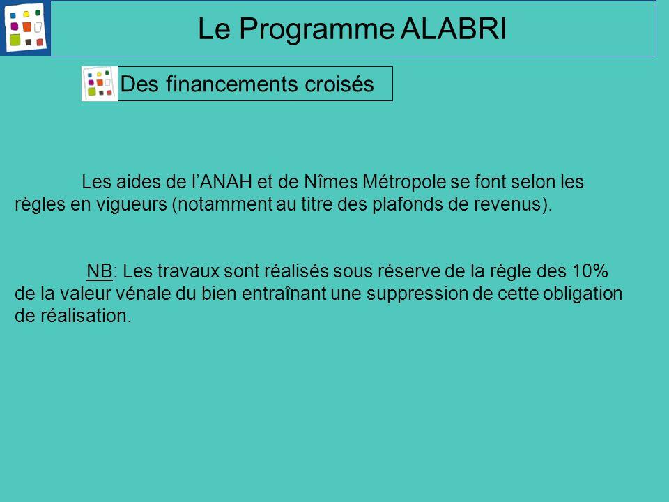 Le Programme ALABRI Des financements croisés