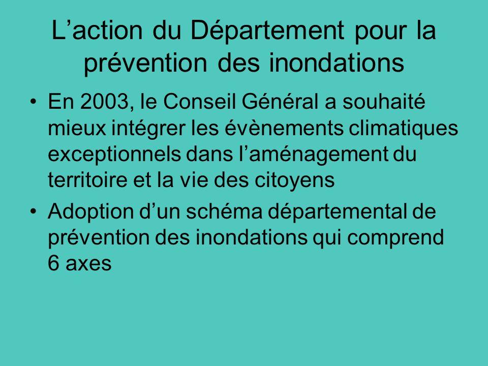 L'action du Département pour la prévention des inondations