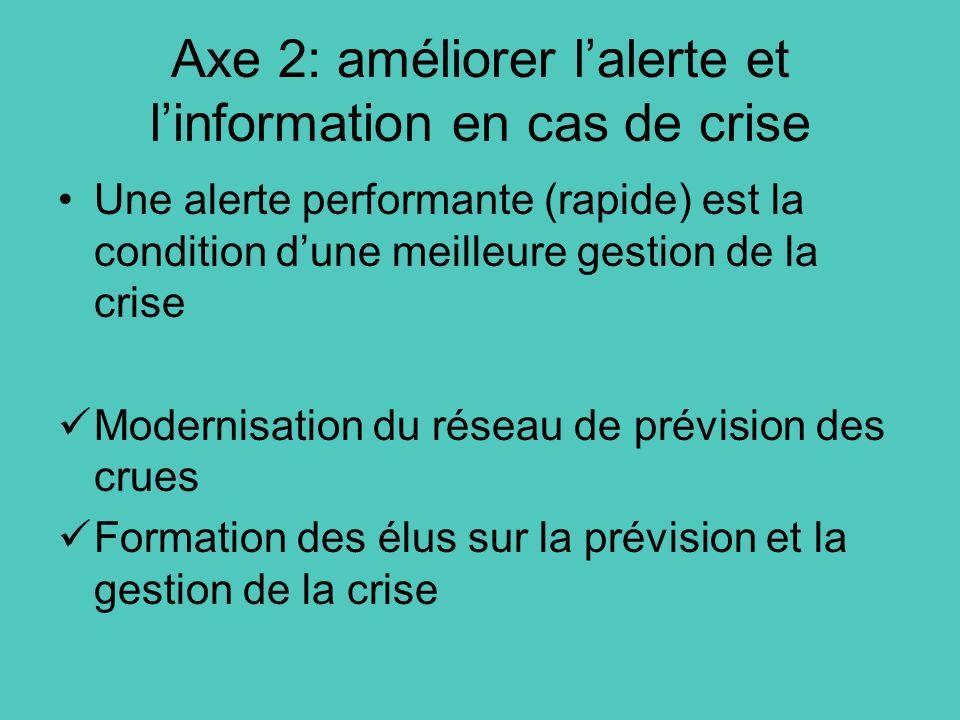Axe 2: améliorer l'alerte et l'information en cas de crise