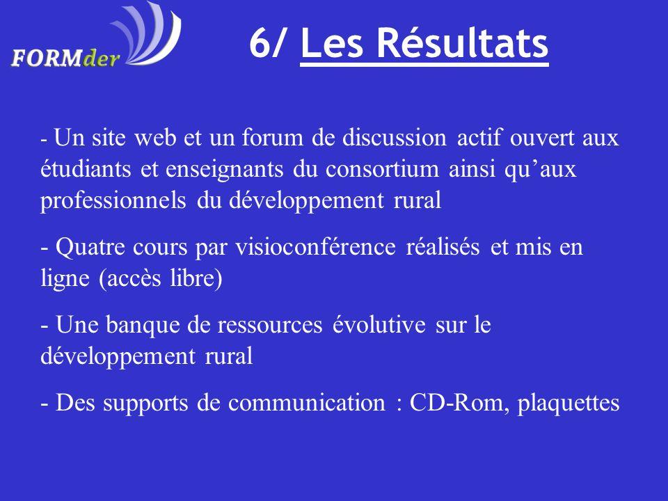 6/ Les Résultats