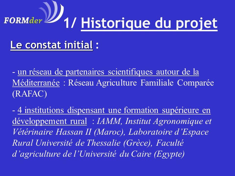 1/ Historique du projet Le constat initial :