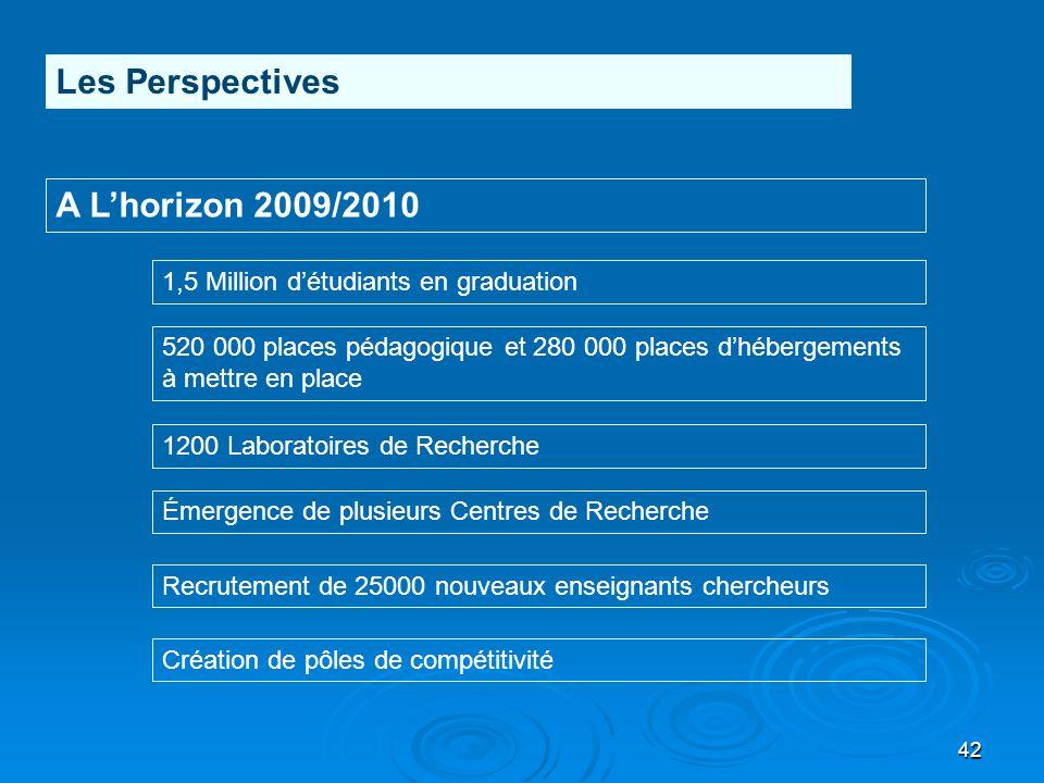 Les Perspectives A L'horizon 2009/2010