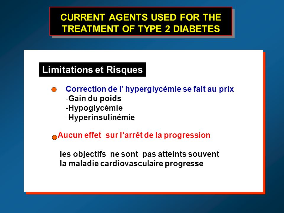 CURRENT AGENTS USED FOR THE TREATMENT OF TYPE 2 DIABETES