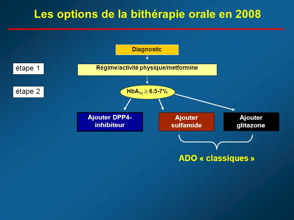 Les options de la bithérapie orale en 2008
