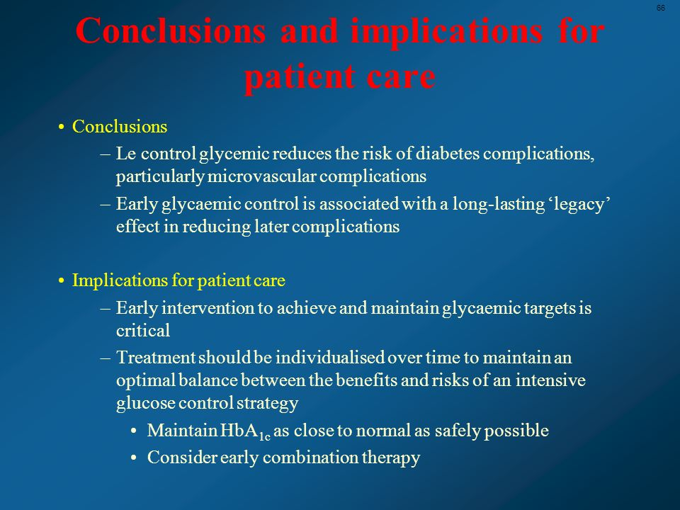 Conclusions and implications for patient care