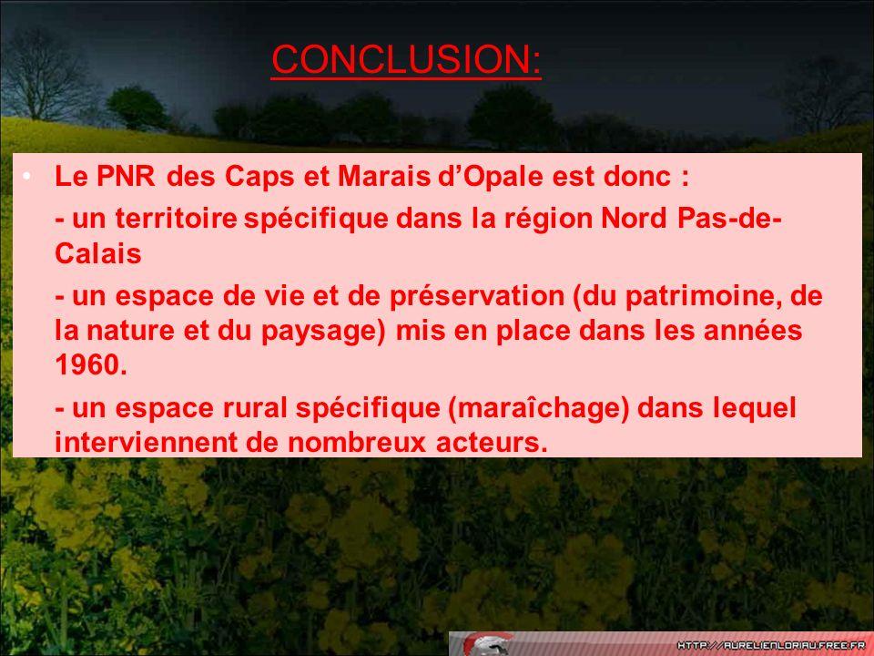 CONCLUSION: Le PNR des Caps et Marais d'Opale est donc :