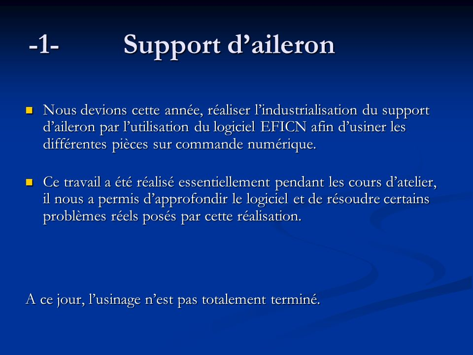-1- Support d'aileron