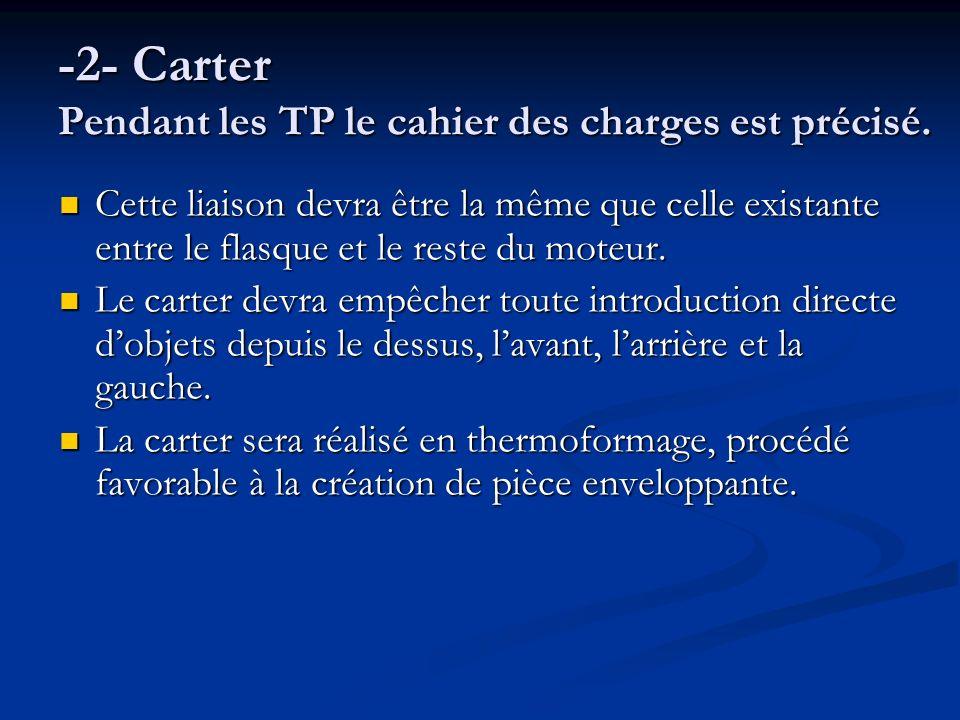 -2- Carter Pendant les TP le cahier des charges est précisé.