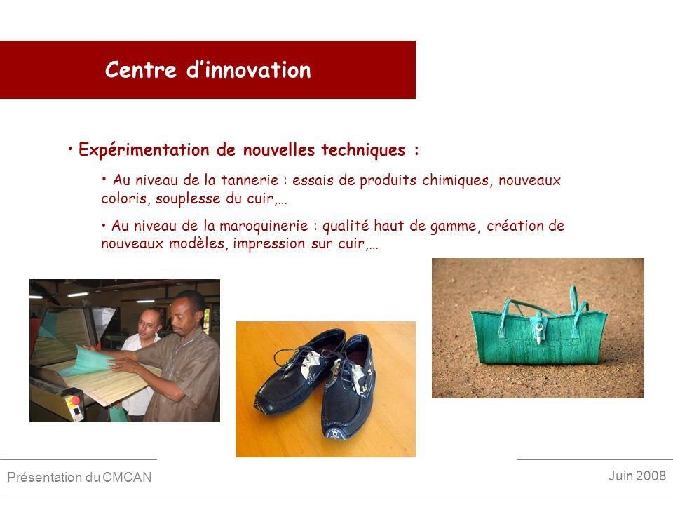 Centre d'innovation Expérimentation de nouvelles techniques :