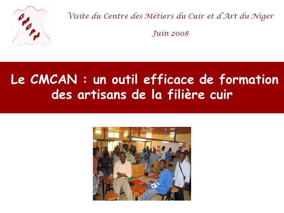 Visite du Centre des Métiers du Cuir et d'Art du Niger