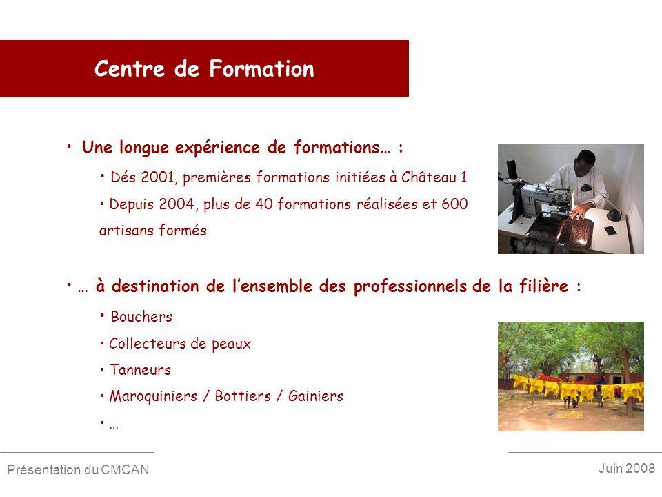 Centre de Formation Une longue expérience de formations… :