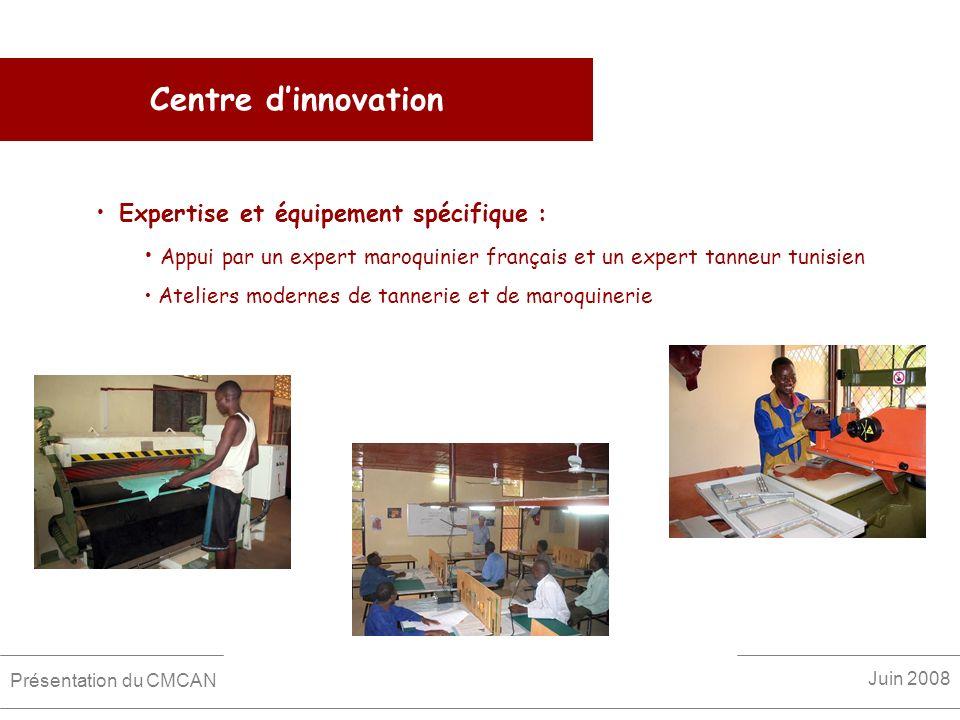 Centre d'innovation Expertise et équipement spécifique :
