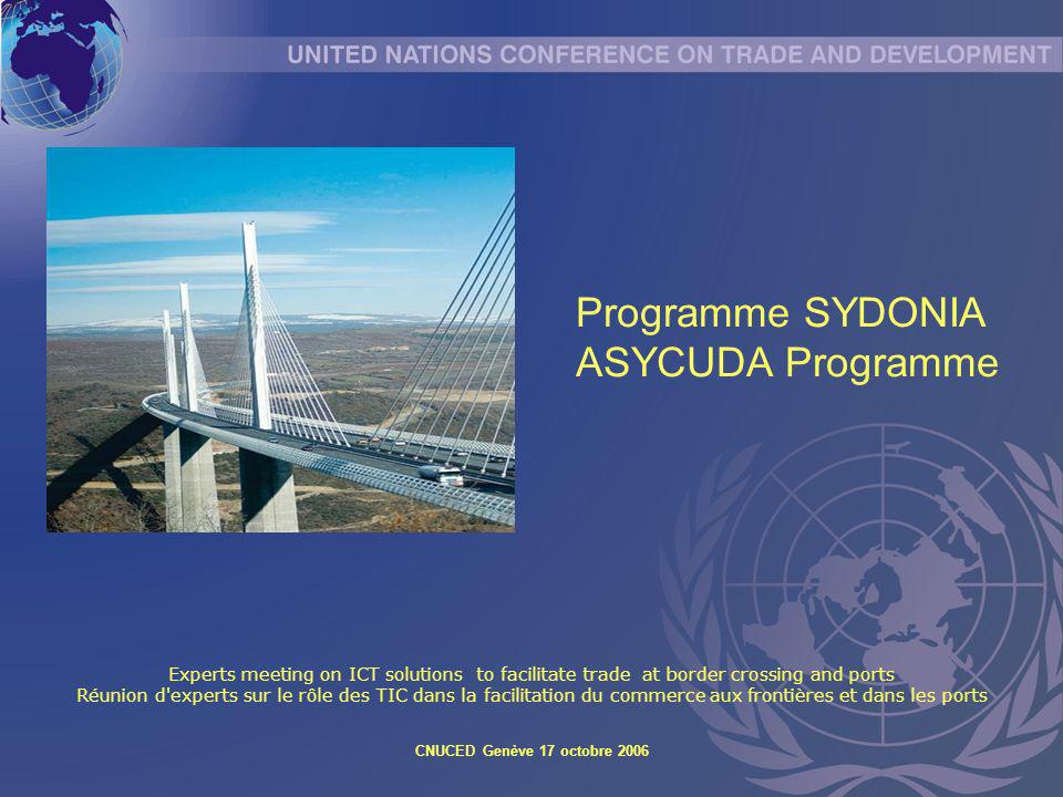 Programme SYDONIA ASYCUDA Programme