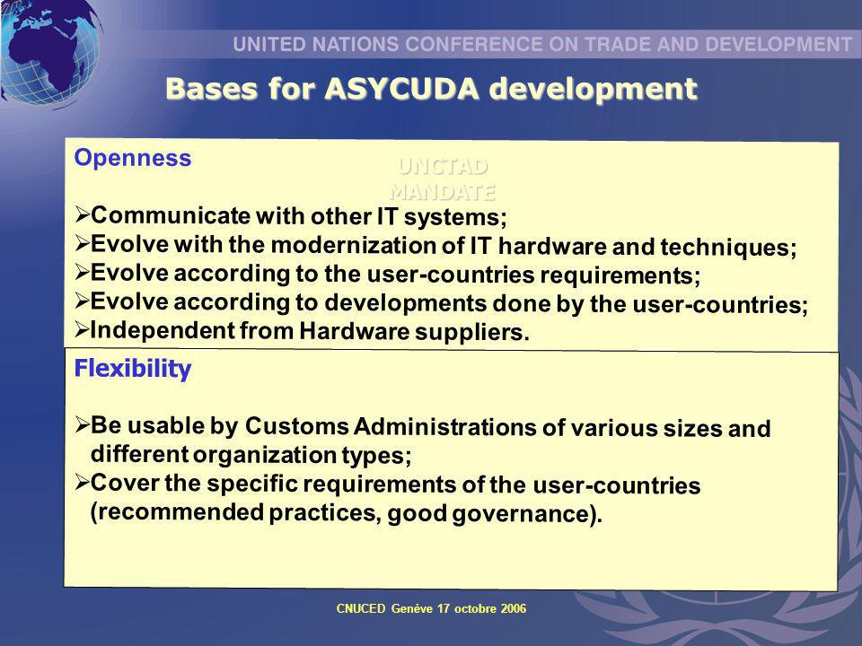 Bases for ASYCUDA development