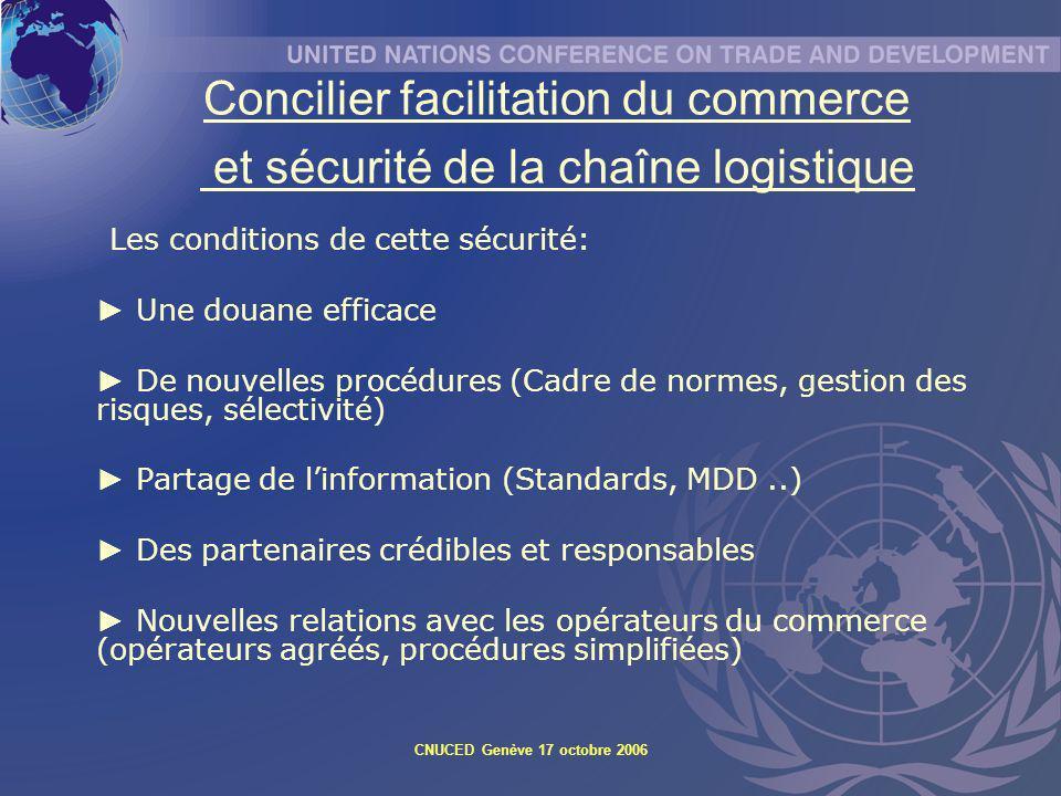 Concilier facilitation du commerce et sécurité de la chaîne logistique