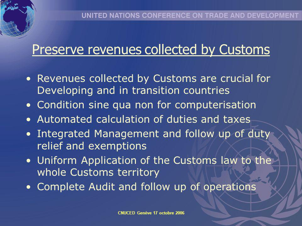 Preserve revenues collected by Customs