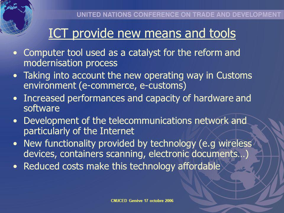 ICT provide new means and tools