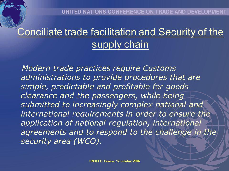 Conciliate trade facilitation and Security of the supply chain