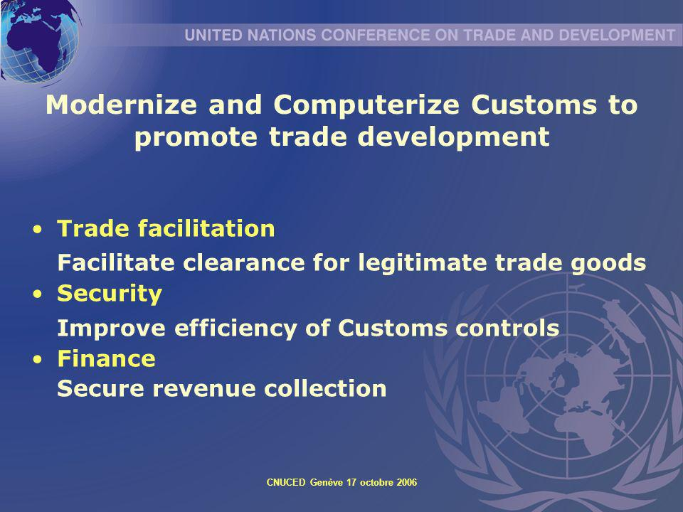Modernize and Computerize Customs to promote trade development
