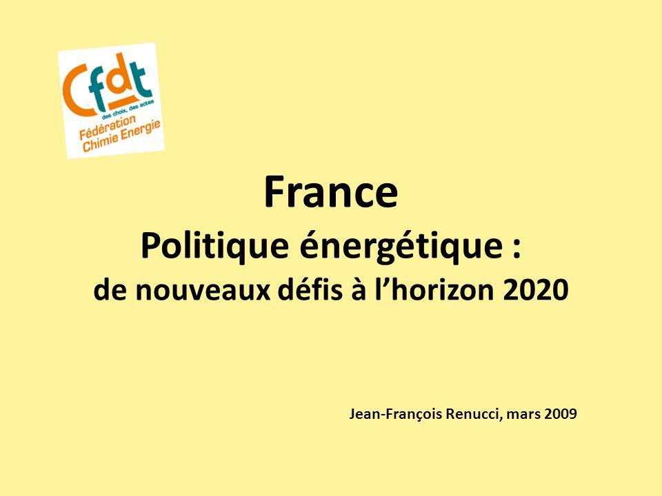 France Politique énergétique : de nouveaux défis à l'horizon 2020