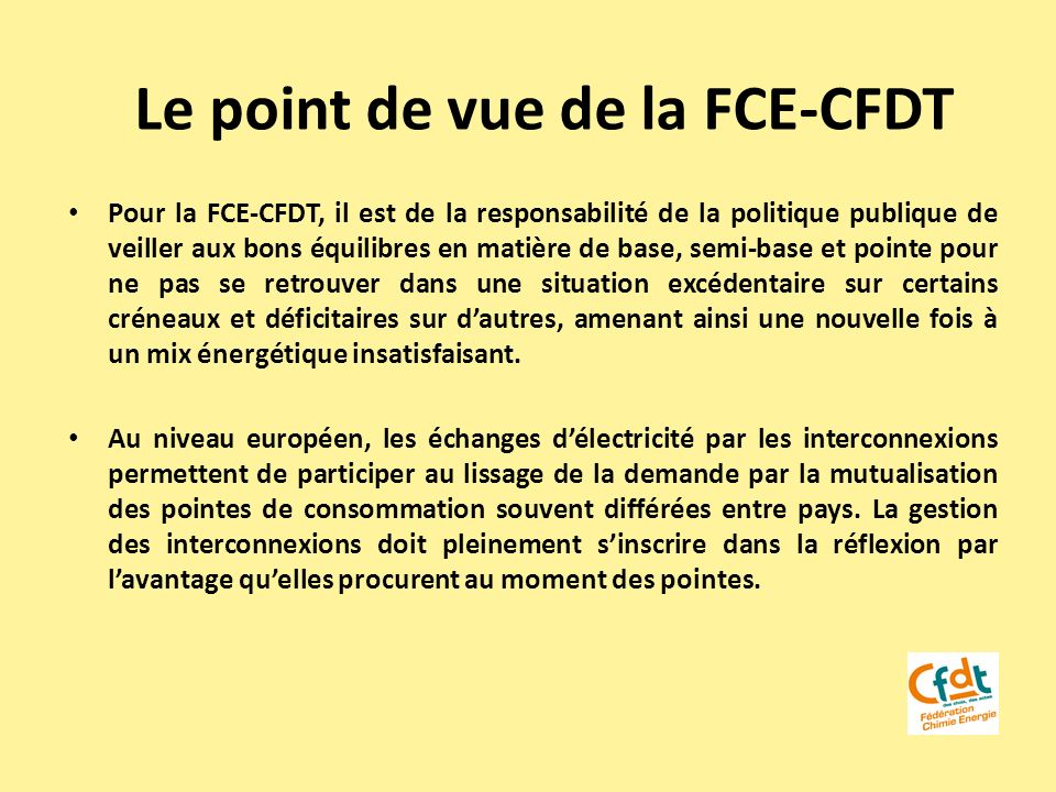 Le point de vue de la FCE-CFDT