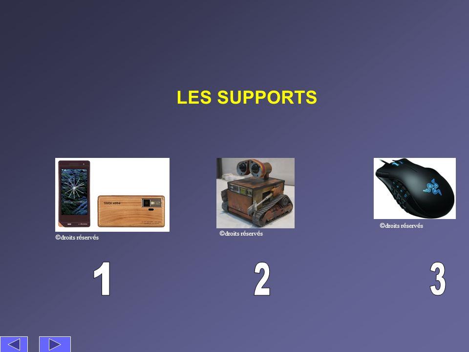 LES SUPPORTS ©droits réservés ©droits réservés ©droits réservés 1 2 3