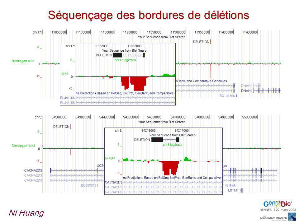 Séquençage des bordures de délétions