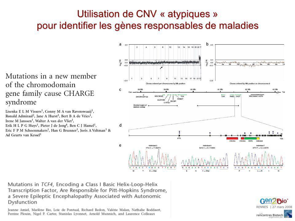 Utilisation de CNV « atypiques »