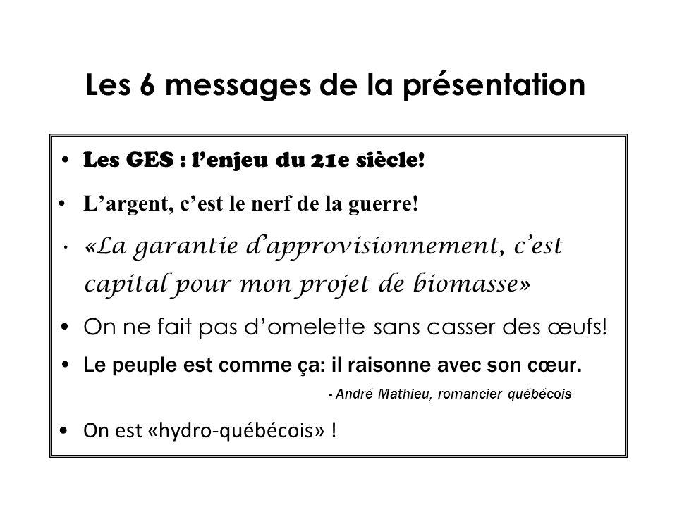 Les 6 messages de la présentation