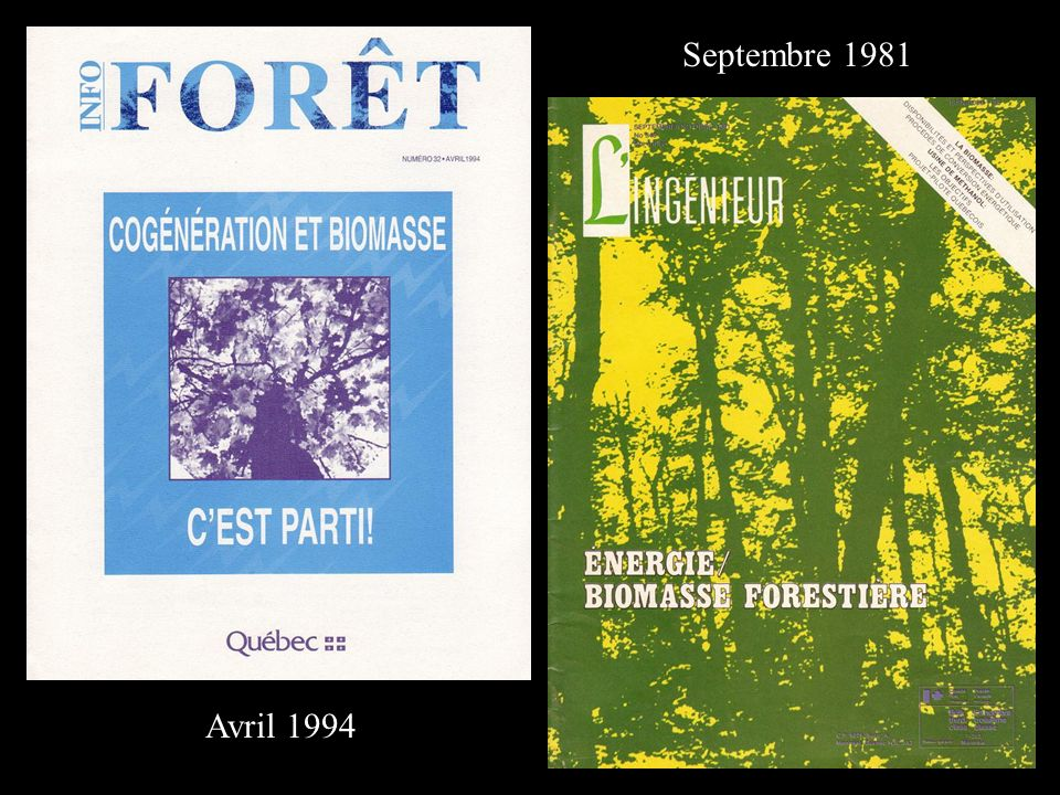 Septembre 1981 Avril 1994
